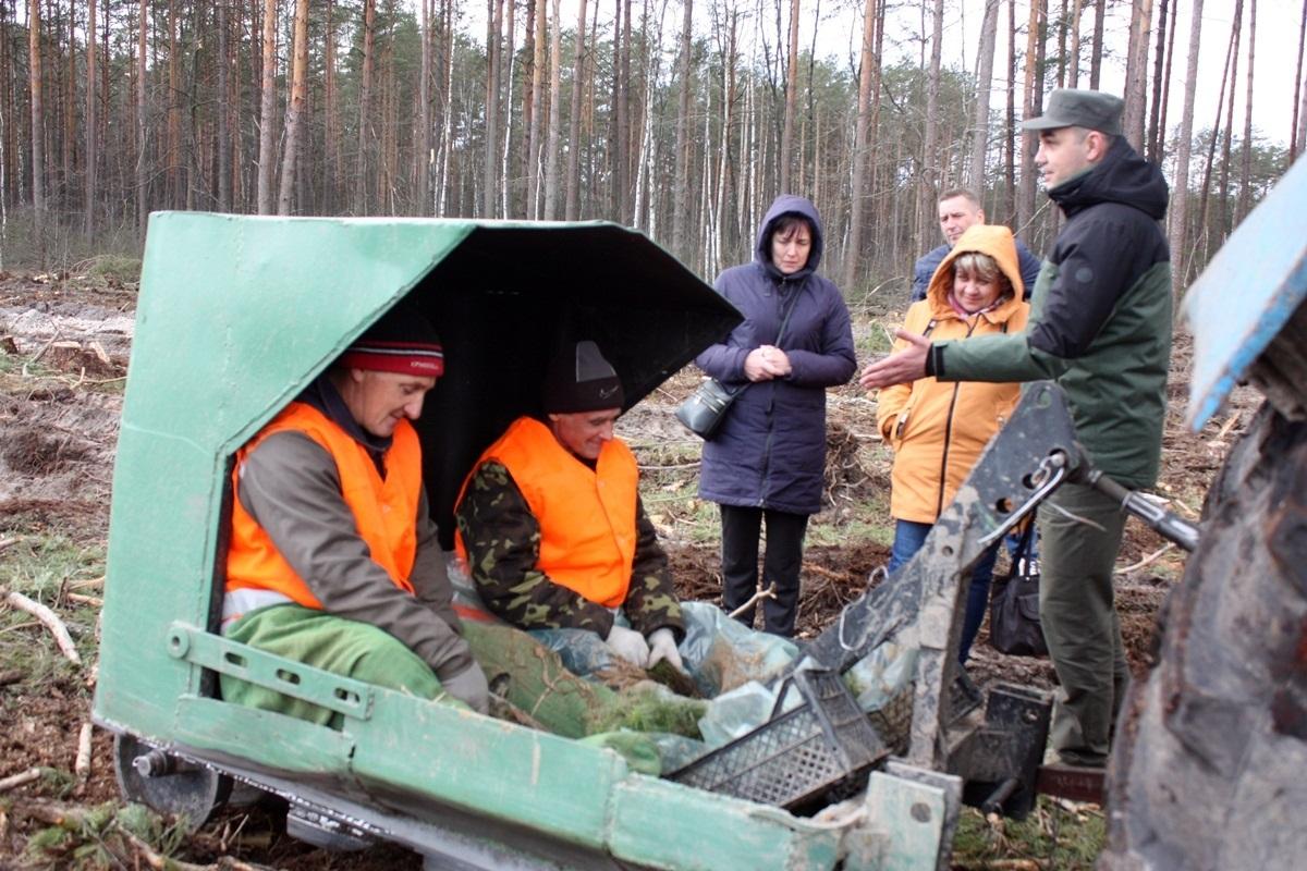 Посадка лісу з допомогю техніки